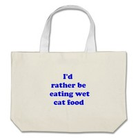 cat food tote bag