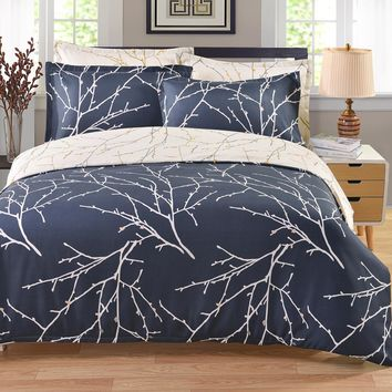 Pillowcase Duvet Cover Set  Printed Bedding Sets Queen Bouble Full Twin size Bed linen