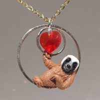"fanART- ""Circle sloths hang around"" -unique, gift for her, cool gift for teenager, valentine's day"