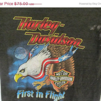 Vintage Harley Davidson Motorcycle Shirt Biker Clothes Harley T Shirt Eagle Shirt late 70s 80s Rare Label Eagle T Shirt