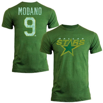 Mike Modano Dallas Stars Old Time Hockey Name & Number T-Shirt – Kelly Green