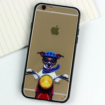 Motorcycle Dog creative case for iPhone 5s 6 6s creative case iPhone 6 6s Plus Gift-77