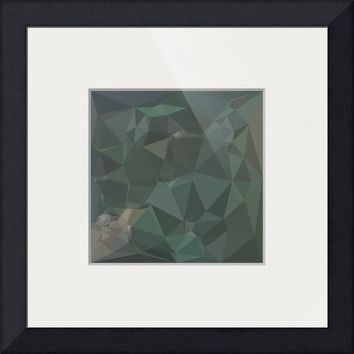 """Light Sea Green Abstract Low Polygon Background"" by Aloysius Patrimonio"