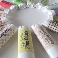 Choose Your Flavor -  Choose three - Lip Balm - Natural - Vegan - Natural Lip Butter - Bath and Beauty - No Sweetener