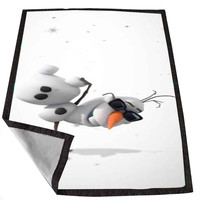 Disney Frozen Olaf The Snowman Dance fc28a2fb-f3c6-4598-9e8d-401af60d11ff for Kids Blanket, Fleece Blanket Cute and Awesome Blanket for your bedding, Blanket fleece *02*