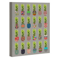 Bianca Green Pineapple Party Art Canvas