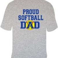 Diamond Duds, LLC - Proud Softball Dad Tshirt #