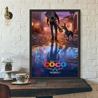 Coco Movie Poster Wall Art Wall Decor Silk Prints Art Poster Paintings For Living Room No Frame