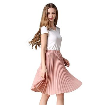 Women Knee-Length Fashionable Chiffon Skirt 0936-69