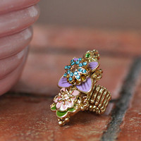 butchart bliss floral ring - $16.99 : ShopRuche.com, Vintage Inspired Clothing, Affordable Clothes, Eco friendly Fashion