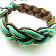 Soft Leather and Cotton Ropes Woven Women Jewelry by braceletcool