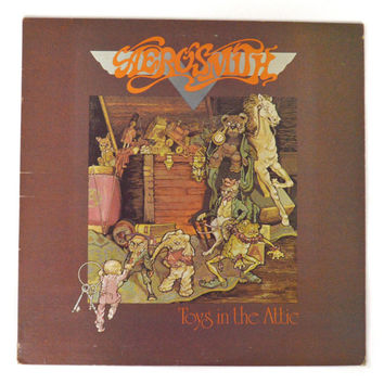 Vintage 70s Aerosmith Toys in the Attic Album Record Vinyl