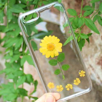 i am a chrysanthemum case 100 handmade dried flowers cover for iphone 7 7plus iphone 6 6s plus gift box b61  number 1