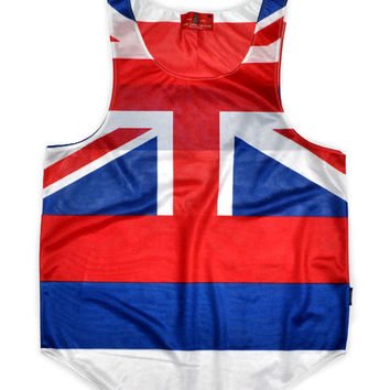 "Hawaii ""The Aloha State"" Flag Tank Top"