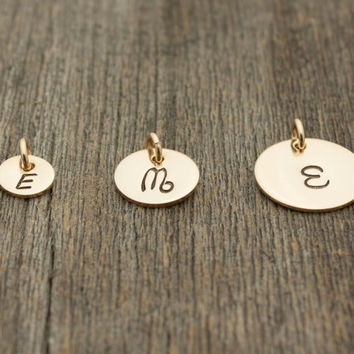 ADD A GOLD DISC: Add a Handstamped Gold-Filled Disc to Your Necklace . May Purchase Separately