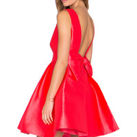 kate spade new york Open Back Mini Dress in Geranium