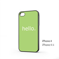 Simple Hello Message iPhone 4 / 4s Case