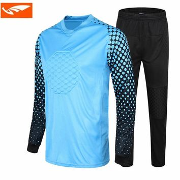 Survetement football jogging uniforms 2017 goalkeeper training suit kids soccer goalkeeper jersey sets doorkeepers football kits