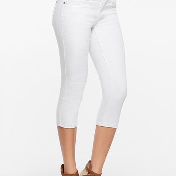 Color Capri Jeans in White | VENUS