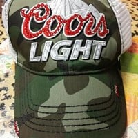 Camo Coors Light Crystal Hat