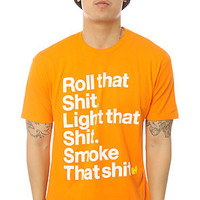 Wutang Brand Limited The Roll That Tee in Orange