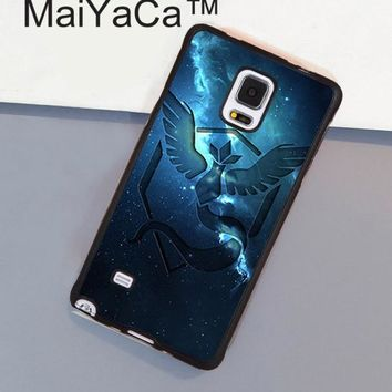 MaiYaCa s team mystic art Printed Soft Rubber Phone Cover For Samsung S4 S5 S6 S7 edge plus Note 3 Note 4 Note 5 CaseKawaii Pokemon go  AT_89_9