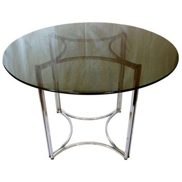 Pre-owned Milo Baughman Style Dining Table