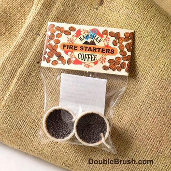 Coffee Party Favor Fire Starters 2 Piece Set - Shipping Included