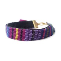 Purple Tasseled Bracelet