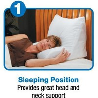Contour Products 10-in-1 Flip Pillow, Standard