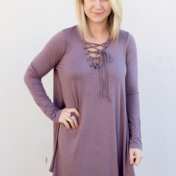 For The Love Of Lace Dress {Plum}