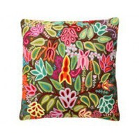 Olive Krewel Embroidered Pillow