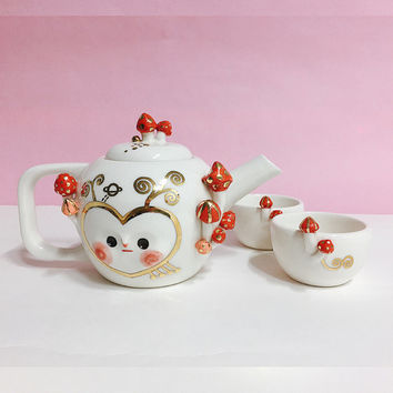 ANGEL OF MUSHROOM tea party set