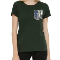 Attack On Titan Shield Girls T-Shirt