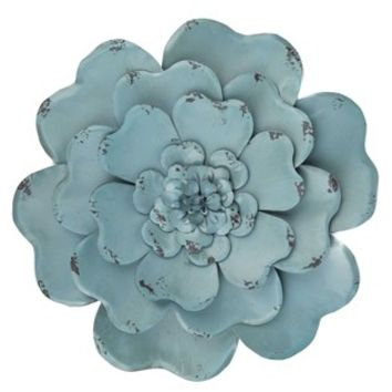 Blue Layered Metal Flower Wall Decor Hobby Lobby