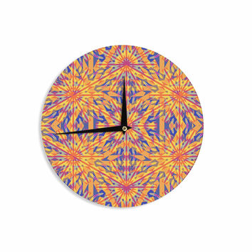 "Miranda Mol ""Azulejo Orange "" Orange Blue Wall Clock"