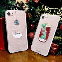 CASEIER Christmas Phone Case For iPhone 8 8 Plus 7 6 6S Plus Soft TPU For iPhone 5S SE 5 Silicone Cases Cute Back Cover Shell