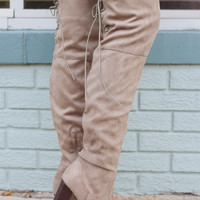 Luxe Over the Knee Boots - Taupe
