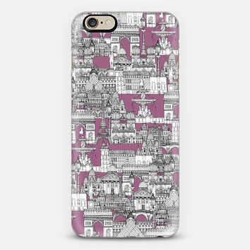 Paris toile raspberry iPhone 6 case by Sharon Turner | Casetify