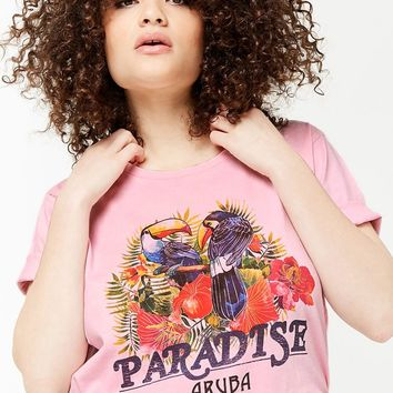 Plus Size Paradise Graphic Tee