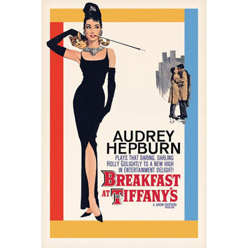 Audrey Hepburn Breakfast at Tiffanys Standard Poster _D