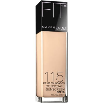 Maybelline New York Fit Me! Foundation, 115 Ivory, SPF 18, 1.0 Fluid Ounce (Packaging may vary)
