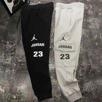 Nike Jordan Stylish Trending Unisex Leisure Logo Print Long Sports Pants Trousers Sweatpants I-XMCP-YC