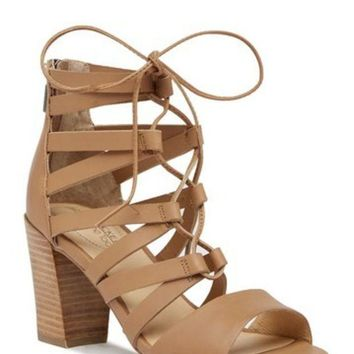 Adam Tucker | Manda Stacked Heel Gladiator Sandal