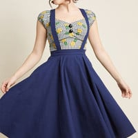 Collectif x MC Curtsy Courtesy Midi Jumper in Navy