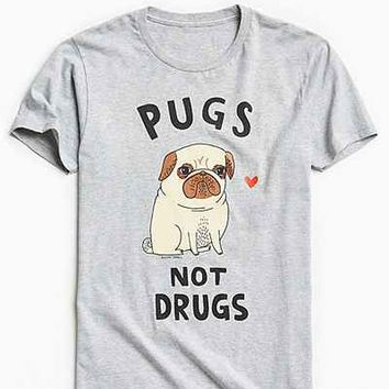 Pugs Not Drugs Tee - Urban Outfitters