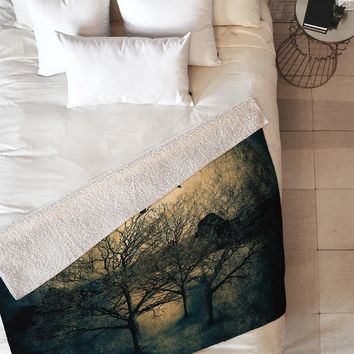 Viviana Gonzalez Dark Forest II Fleece Throw Blanket