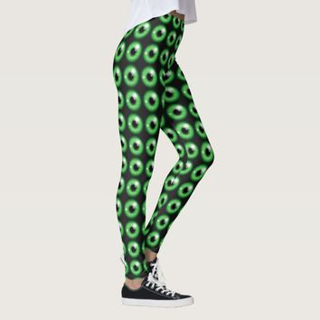 green eyeballs pattern leggings