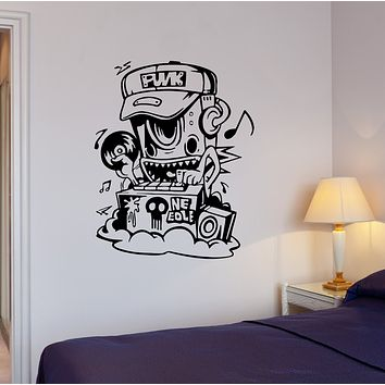 Wall Decal Music Robot DJ Melody Disco Club Quote Vinyl Sticker (ed1628)