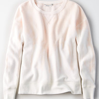 AE Cozy Inside & Out Tie-Dye Sweatshirt, Blush